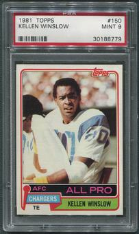 1981 Topps Football #150 Kellen Winslow Rookie PSA 9 (MINT)