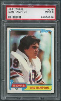 1981 Topps Football #316 Dan Hampton Rookie PSA 9 (MINT)