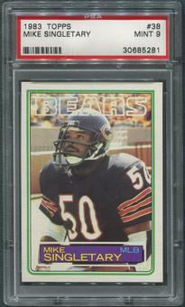 1983 Topps Football #38 Mike Singletary Rookie PSA 9 (MINT)