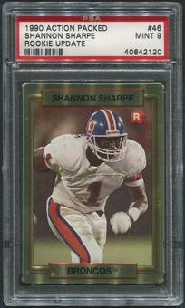 1990 Action Packed Rookie Update Football #46 Shannon Sharpe Rookie PSA 9 (MINT)