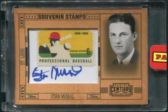 2010 Panini Century Collection Baseball #30 Stan Musial Stamp Auto #06/25