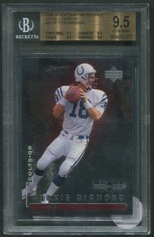 1998 Black Diamond #91 Peyton Manning Rookies Double Rookie #2079/2500 BGS 9.5 (GEM MINT)