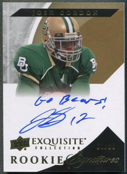 2012 Exquisite Collection #73 Josh Gordon Rookie Auto #61/99