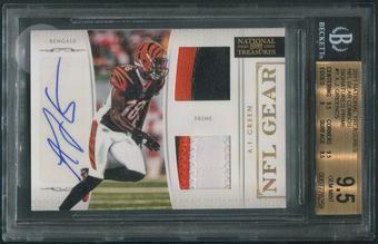 2011 Playoff National Treasures #1 A.J. Green NFL Gear Rookie Patch Auto #06/25 BGS 9.5 (GEM MINT)