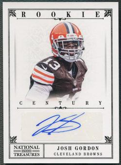 2012 Panini National Treasures #248 Josh Gordon Century Black Rookie Auto #17/25