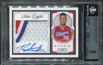 2009/10 Playoff National Treasures #201 Blake Griffin Rookie Autograph Patch 76/99 BGS 9 Mint