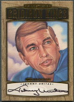 1999 Donruss #AGK2 Johnny Unitas All-Time Gridiron Kings Auto #0358/1000