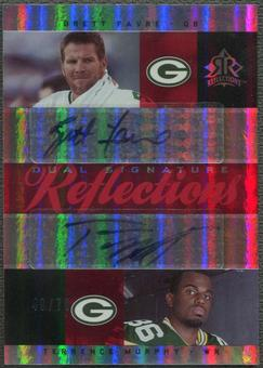 2005 Reflections #DSFM Brett Favre & Terrence Murphy Reflections Red Dual Auto #49/70