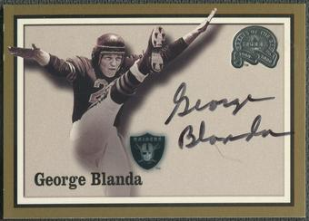 2000 Greats of the Game #6 George Blanda Gold Border Auto
