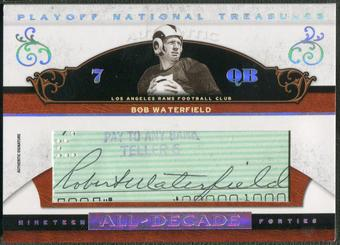 2007 Playoff National Treasures #BWA Bob Waterfield All Decade Signature Cuts Auto #26/39