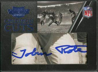 2010 Panini Plates and Patches #41 Tobin Rote Gridiron Cut Auto #06/31