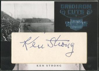 2011 Panini Plates and Patches #15 Ken Strong Gridiron Cut Auto #1/5