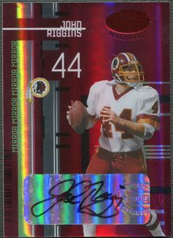 2005 Leaf Certified Materials #119 John Riggins Mirror Red Signatures Auto #12/25