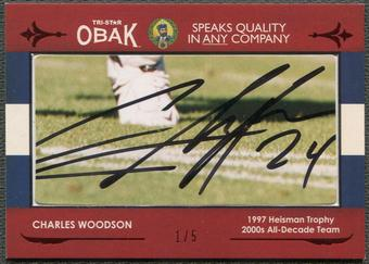 2011 TRISTAR Obak #87 Charles Woodson Cut Signatures Red Auto #1/5