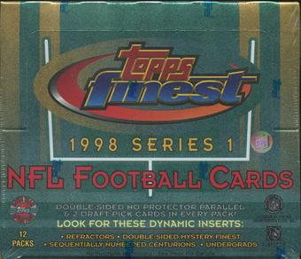 1998 Topps Finest Series 1 Football Jumbo Box