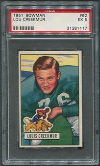 1951 Bowman Football #62 Lou Creekmur Rookie PSA 5 (EX)