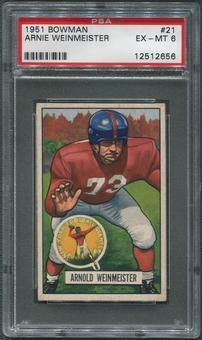 1951 Bowman Football #21 Arnie Weinmeister Rookie PSA 6 (EX-MT)