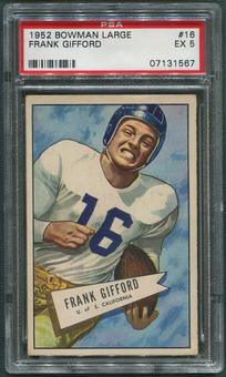 1952 Bowman Large Football #16 Frank Gifford Rookie PSA 5 (EX)