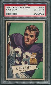 1952 Bowman Large Football #140 Yale Lary Rookie PSA 6 (EX-MT)