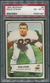 1954 Bowman Football #4 Doug Atkins Rookie PSA 6 (EX-MT)