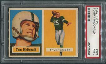 1957 Topps Football #124 Tommy McDonald Rookie PSA 7 (NM)