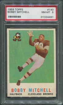 1959 Topps Football #140 Bobby Mitchell Rookie PSA 8 (NM-MT)