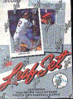 1990 Leaf Series 2 Baseball Hobby 10-Box Case