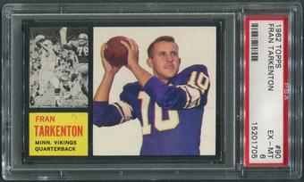 1962 Topps Football #90 Fran Tarkenton SP Rookie PSA 6 (EX-MT)