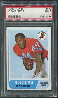 1968 Topps Football #173 Floyd Little Rookie PSA 7 (NM)