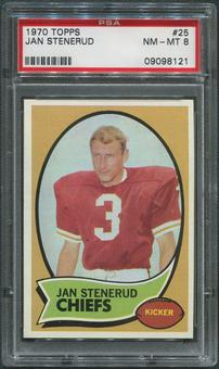 1970 Topps Football #25 Jan Stenerud Rookie PSA 8 (NM-MT)