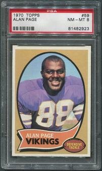 1970 Topps Football #59 Alan Page Rookie PSA 8 (NM-MT)