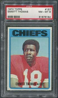 1972 Topps Football #157 Emmitt Thomas Rookie PSA 8 (NM-MT)