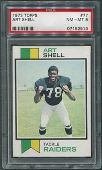 1973 Topps Football #77 Art Shell Rookie PSA 8 (NM-MT)