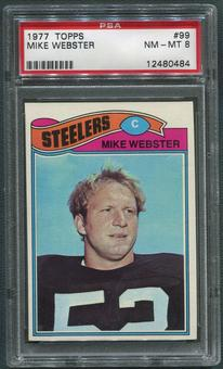 1977 Topps Football #99 Mike Webster Rookie PSA 8 (NM-MT)