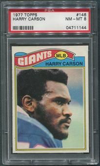 1977 Topps Football #146 Harry Carson Rookie PSA 8 (NM-MT)