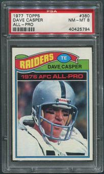 1977 Topps Football #380 Dave Casper Rookie PSA 8 (NM-MT)