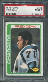 1978 Topps Football #217 Fred Dean Rookie PSA 9 (MINT)