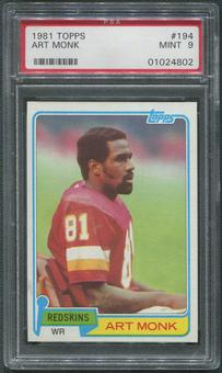 1981 Topps Football #194 Art Monk Rookie PSA 9 (MINT)