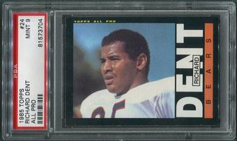 1985 Topps Football #24 Richard Dent Rookie PSA 9 (MINT)