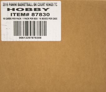 2016/17 Panini Court Kings Basketball Hobby 16-Box Case