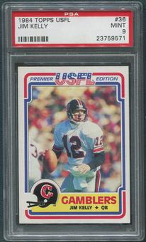 1984 Topps USFL Football #36 Jim Kelly Rookie PSA 9 (MINT)