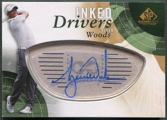 2014 SP Game Used #IDTW Tiger Woods Inked Drivers Auto