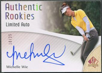 2014 SP Authentic #111 Michelle Wie Limited Rookie Auto #10/25