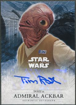 2016 Star Wars The Force Awakens Series Two Tim Rose as Admiral Ackbar Auto