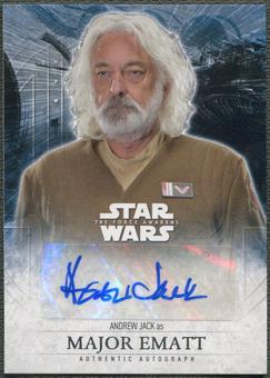 2016 Star Wars The Force Awakens Series Two Andrew Jack as Major Ematt Auto