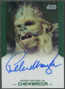 2015 Star Wars Chrome Perspectives Jedi vs. Sith Peter Mayhew as Chewbacca Auto