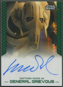 2015 Star Wars Chrome Perspectives Jedi vs. Sith Matthew Wood as General Grievous Prism Refractor Auto #45/50