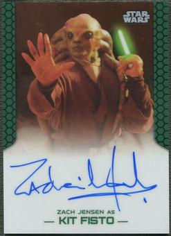 2015 Star Wars Chrome Perspectives Jedi vs. Sith Zac Jensen as Kit Fisto Auto