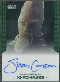 2015 Star Wars Chrome Perspectives Jedi vs. Sith Silas Carson as Ki-Adi-Mundi Auto