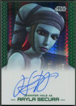 2015 Star Wars Chrome Perspectives Jedi vs. Sith Jennifer Hale as Aayla Secura Prism Refractor Auto #17/50